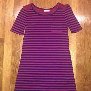 Girls size 8 stripe t-shirt dress